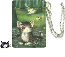【ダヤン】森のささやき 本革 パスケース わちふぃーるど ダヤン雑貨 猫雑貨 ダヤングッズ 猫グッズ