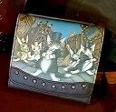 【送料無料】革の街2つ折り財布 わちふぃーるど ダヤン 財布 本革 猫雑貨 ダヤングッズ02P23Apr16