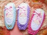 【あす楽対応_関東】【tossile】乙女の憧れ♪バレエシューズの形をしたマルチポーチ/水玉3色44