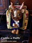 送料無料【CuddleaFluffy25】ビースト肖像画お人形を装飾したバッグがま口ショルダーバッグポシェット【RCP】【ハンドメイド野獣美女と野獣日本製】【コンビニ受取対応商品】