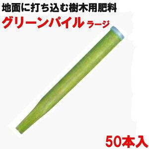 地面に突き刺す肥料 グリーンパイル ラージ 50本入