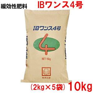 緩効性IBチッソ入肥料 IBワンス4号 10kg(2kg×5袋)