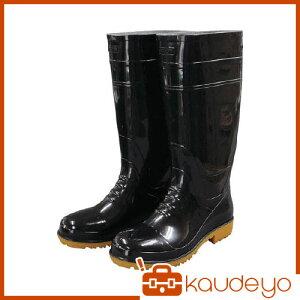 福山ゴム 耐油長靴先芯入り ガロア#1ブラックL GLA1LB 6089