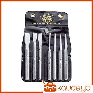 モクバ印 タガネセット(袋入り)7本組 A67 2232