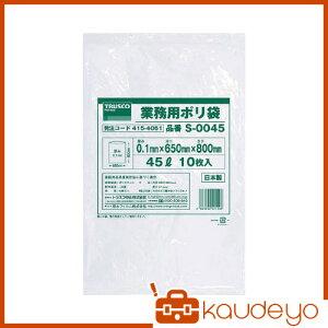 TRUSCO 業務用ポリ袋0.1×20L 10枚入 S0020 8539