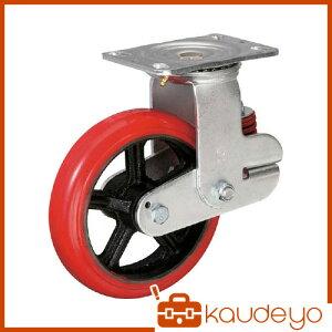 イノアック バネ付き牽引車輪(ウレタン車輪タイプ 自在金具付 Φ200) KTU200WJYS 1246