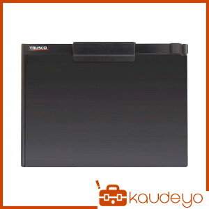 TRUSCO ペンホルダー付クリップボード(マグネット付) A4横 黒 TCBMA4SBK 8037