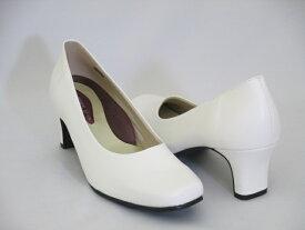 イベント用白パンプス5cmヒール イベント 衣装 コンパニオン パンプス 白パンプス ハイヒール 日本製 国産 履きやすい 定番 人気 白 合成皮革