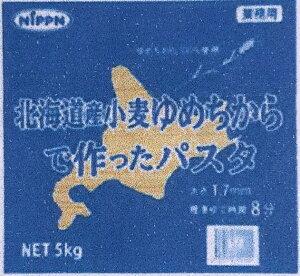 【限定品】【人気北海道産地粉】【プロ用業務用5K袋入り】日本製粉 北海道産小麦ゆめちからで作ったパスタ(スパゲティ)1.7mm 5kg