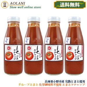 【送料無料】グループとまと トマトケチャップ 380g×4本 兵庫県小野市産 化学調味料不使用
