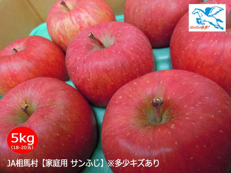安全・安心・美味しい!JA相馬村【家庭用サンふじ】5kg(18-20玉)
