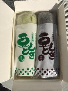 [冷凍便発送]青森県産 豆しとぎ(青豆しとぎ・黒豆しとぎ)300gX2本セット 【小泉食品】