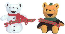 ホリデーベアフロステッド(画像左の雪だるま型)【楽ギフ_包装】【楽ギフ_メッセ入力】【プレゼントにもオススメ】【メッセージカード無料】【RCP】【5002014】