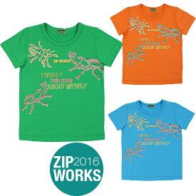 【春夏】ボーイズ/100cm~130cm/ZIPWORKS半袖Tシャツ/カブトムシ/クワガタ/ビートル/ジップワークス/marathon