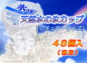 天然水の氷カップ(レギュラーサイズ)48入り(業務用)