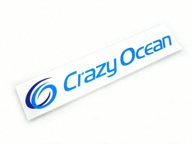 クレイジーオーシャン(Crazy Ocean)☆カッティングステッカー(CUTTING STICKER) 240×50【メール便だと送料90円 8千円以上送料無料(北・沖 除く)】