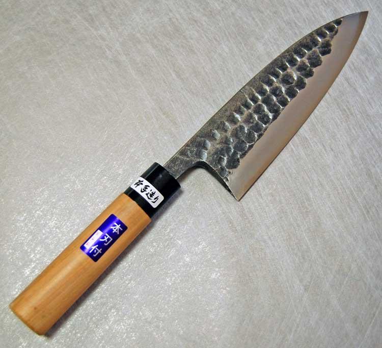 黒打槌目安来白鋼炭打手造り出刃包丁150mm【送料無料】