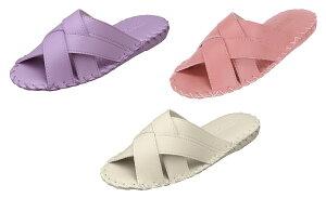 パンジー スリッパ母の日Pansy 婦人用 室内履きレディース ルームシューズ足になじみやすいクロスデザイン9519