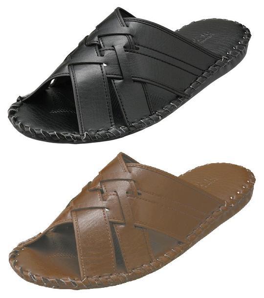 パンジー スリッパ父の日紳士用 室内履きPansy メンズ ルームシューズクラレ人工皮革サンセーヌ使用9729