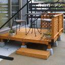 ウッドデッキ セット/システムデッキ 1坪 ナチュラル/SDW-N/タカショー/DIY/木製デッキ/梱包サイズ特大