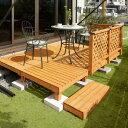 5%OFF/デッキ 天然 木 ウッド セット DIY テラス 床 庭 ガーデン タカショー / システムデッキ 1.5坪 ナチュラル /D