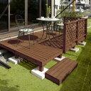 デッキ 天然 木 ウッド ACQ セット DIY テラス 庭 ガーデン タカショー / システムデッキ 1.5坪 ACQブラウン /D