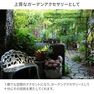ガーデンベンチ/アルミ/ローズガーデンベンチ青銅色/TGF-13-01GS/ガーデンチェア/鋳物/バラ/椅子/送料区分A