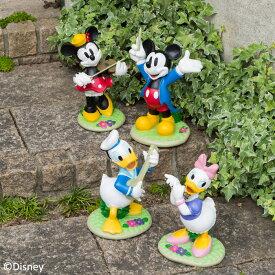 置き物 オーナメント フィギュア 屋外 ディズニー かわいい Disneyzone タカショー / ディズニー ガーデンスタチュー 4点セット /A
