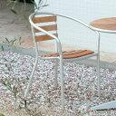 ガーデンチェア 木製/コスタソーレ カフェチェアー HU-1020C /アルミ/チーク/スタッキング/椅子/庭/