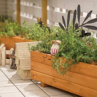 鉢プランターポット天然木ガーデニング菜園寄せ植えタカショー/ウッドテラスプランターナチュラル120/B