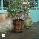 鉢 プランター ポット 天然 木 ガーデニング 菜園 寄せ植え タカショー / ウッドスクエアプランター M /A