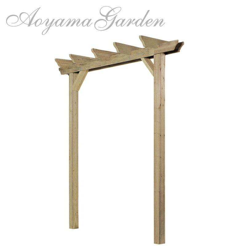 パーゴラ 木製/e-ウッド シングル パーゴラ 基本型EUPA-1K//ガーデンアーチ/DIY/藤棚/バラ/誘引/ガーデニング/タカショー/大型商品のため日時指定不可