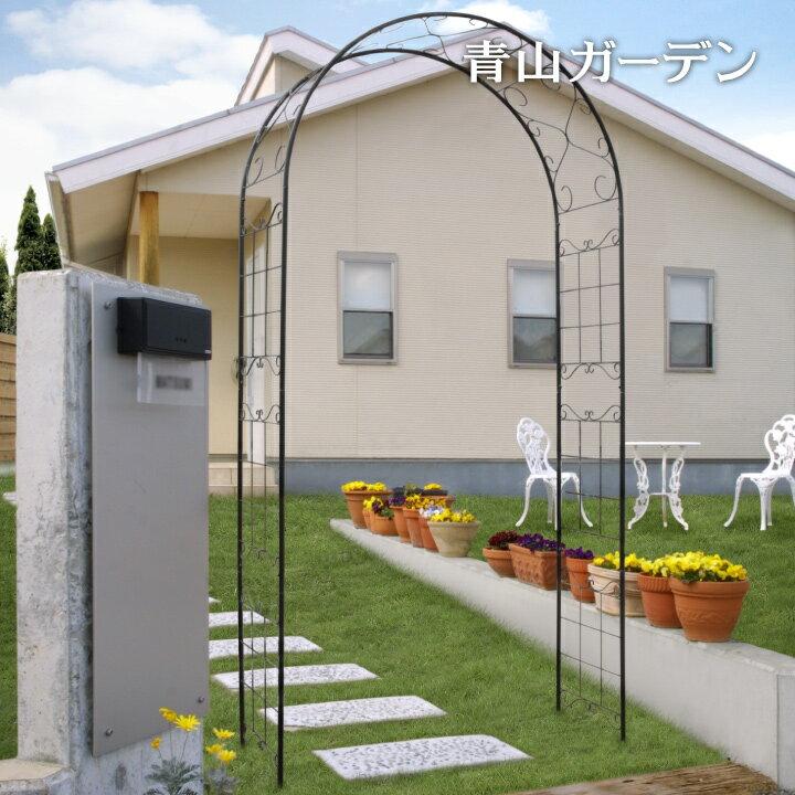 ガーデンアーチ バラ/G-story クライミングアーチ リーフ GSTR-RC08 /ローズ/つる/クレマチス/アイアン/梱包サイズ小