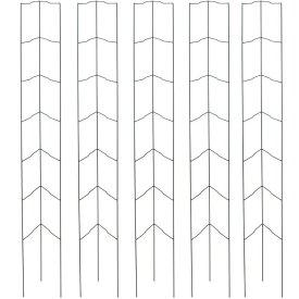 支柱 オベリスク 菜園 つる性 ガーデニング タカショー / 菜園オベリスク グリーン S 5個組 /B