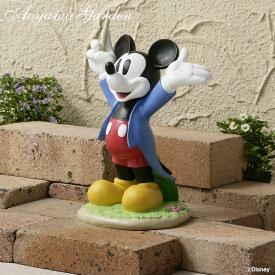 置き物 オーナメント フィギュア 屋外 ディズニー かわいい Disneyzone タカショー / ガーデンスタチュー 音楽隊 ミッキーマウス /A