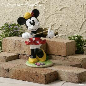 置き物 オーナメント フィギュア 屋外 ディズニー かわいい Disneyzone タカショー / ガーデンスタチュー 音楽隊ミニーマウス /A