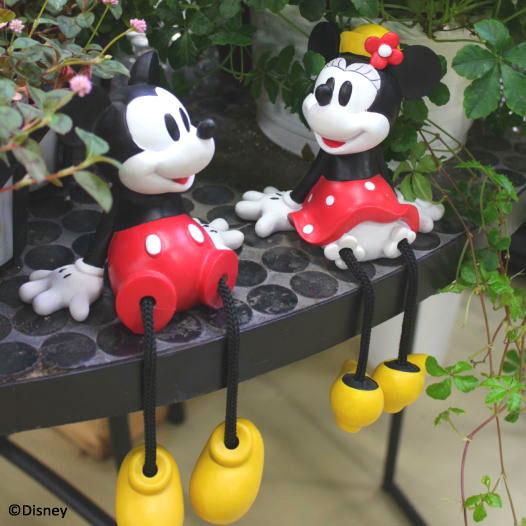 ディズニー 置き物/足ブラ ミッキー&ミニーセット[TD-FD01/02]【Disneyzone】/梱包サイズ小