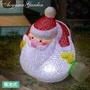 イルミネーション 屋外 サンタ LED ライト クリスマス 電飾 タカショー / 電池式 3Dクリスタルモチーフ ぐったりサンタ /A
