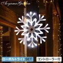 イルミネーション 屋外 LED ライト クリスマス 電飾 タカショー / ローボルト iSparkle 2Dスノー フレークホワイト&…