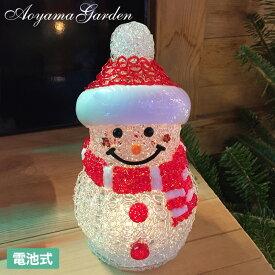 イルミネーション LED ライト 室内 クリスマス タカショー / 3Dクリスタルミニスノーマン 電池式(室内用) /A