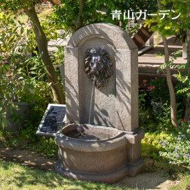 噴水 ファウンテン ソーラー 鳥 バードバス 水 水音 庭 ガーデン タカショー / ソーラーファウンテン ライオンマスク /B