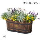 鉢 プランター ポット 木製 天然木 ガーデニング 菜園 寄せ植え タカショー / ウッドオーバルプランター M /A