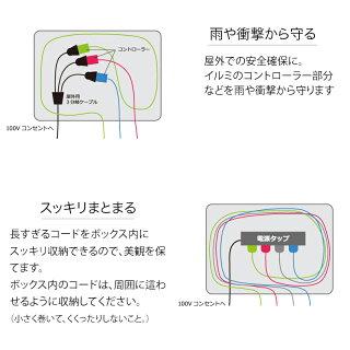 イルミネーション収納/コンセントボックスLSO-21/ケーブルボックス/ガーデンライト/屋外用/