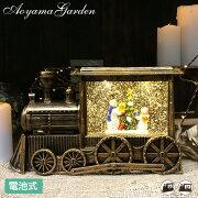 クリスマス飾りギフトプレゼント装飾室内アンティーク置き物デコレーション/スノードームライトトレイン/A