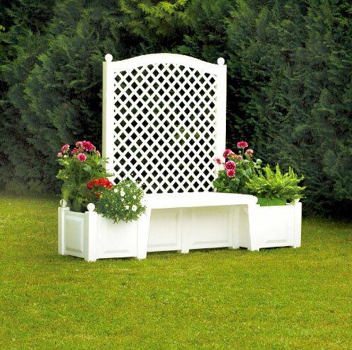 [Germany KHW] Germany Made Garden With A Trellis Garden Planter Bench  Garden Gardening Bench Planter Polypropylene Fs3gm