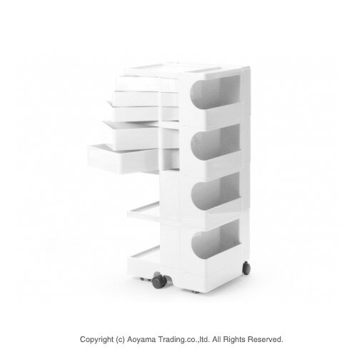 ボビーワゴン 4段5トレー ホワイト 【正規品・インナートレイ・保証書・シリアルナンバー付き】 BOBY WAGON(4段5トレイ) B-LINE(ビーライン B LINE) 送料無料
