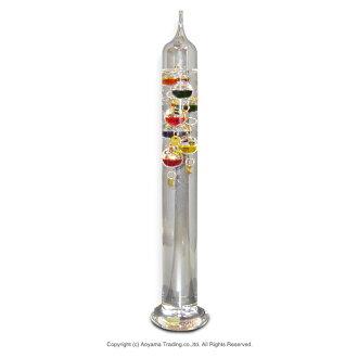 (在) 德国制造的室内玻璃伽利略温度计