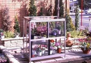 折りたたみ温室FGO-600M 日本製 アルミ 強化ガラス メーカー直送 組み立て不要 送料無料