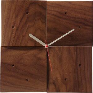 旭川のクラフト工房 cosine(コサイン)掛け時計【R】(ウォルナット材) 木製 掛時計 【おしゃれ】 CW-06CW 送料無料 【旭川家具】