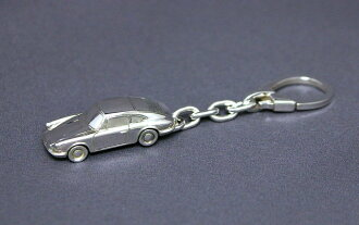 SilverCar (Silver car) Keychain Porsche 911 silver crafted miniature car sterling silver 1 / 100 scale]
